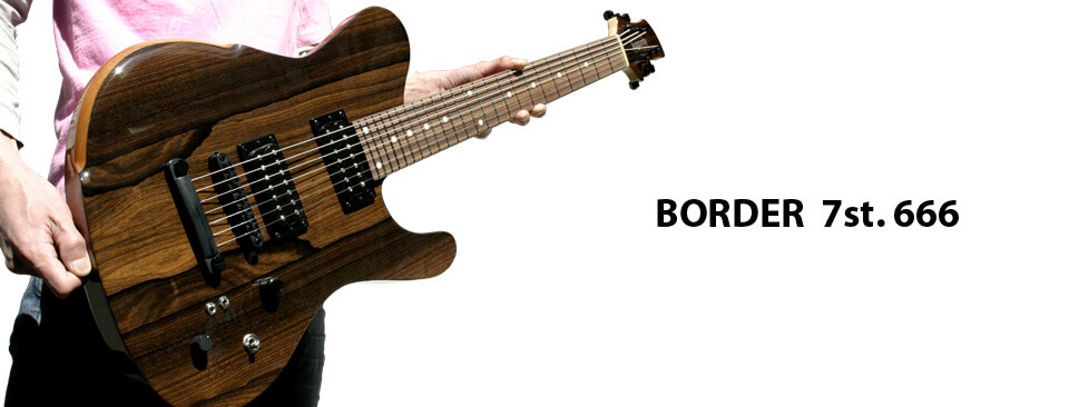 dragonfly guitar BORDER 7st. 666